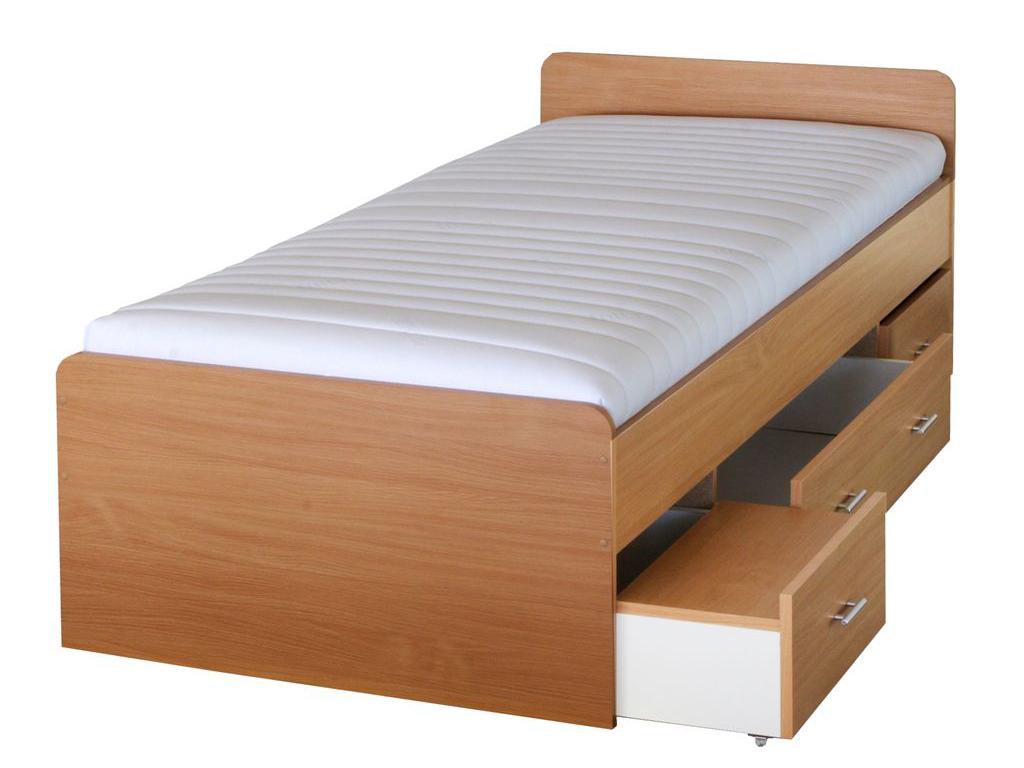 Jednolôžková posteľ 90 cm Duet 80262 buk 22