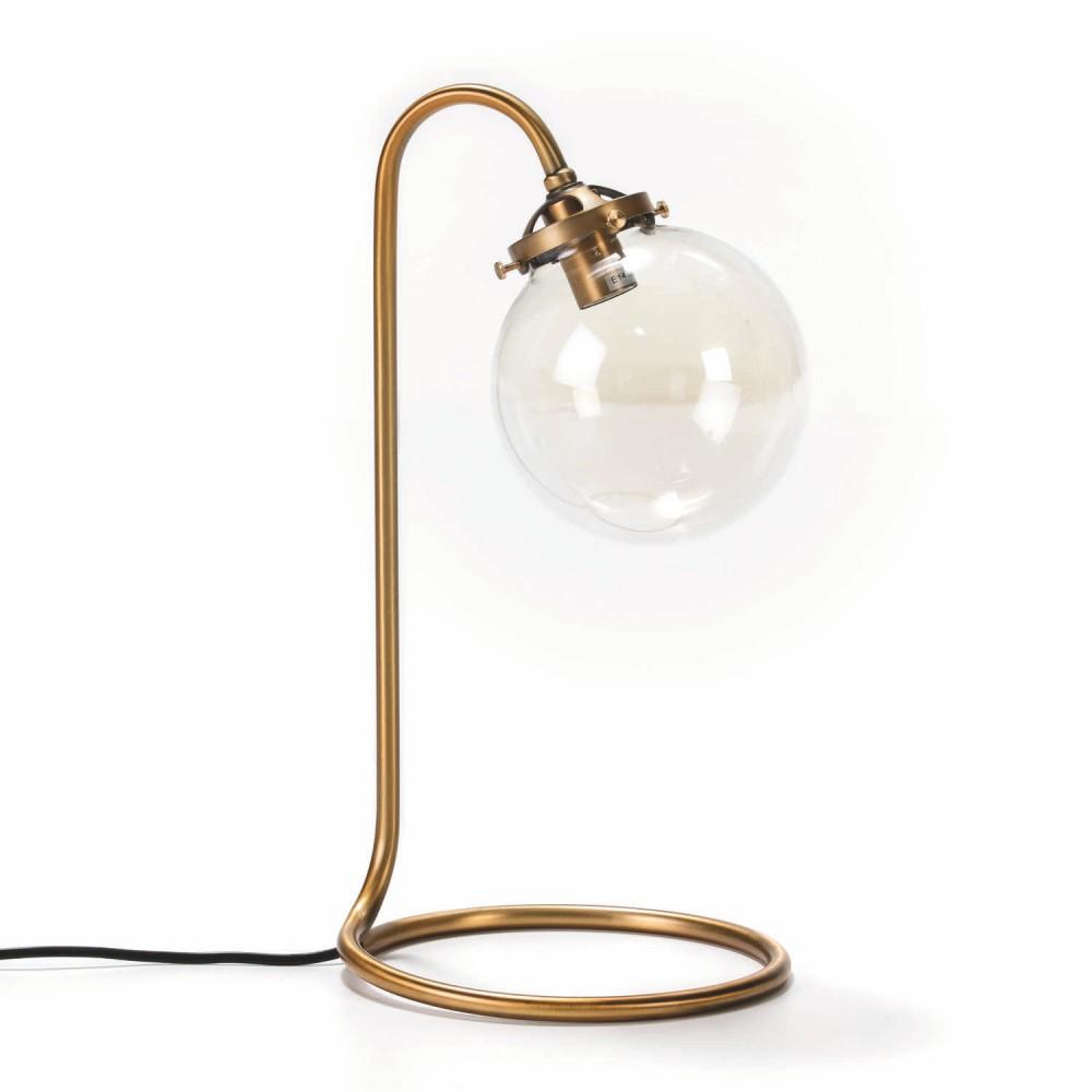 Stolová lampa z kovu zlatej farby Thai Natura Snake