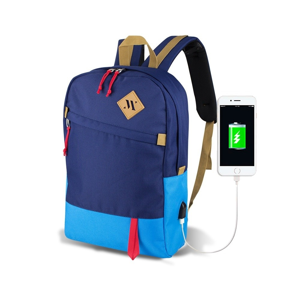 Modrý batoh s USB portom My Valice FREEDOM Smart Bag Mavi