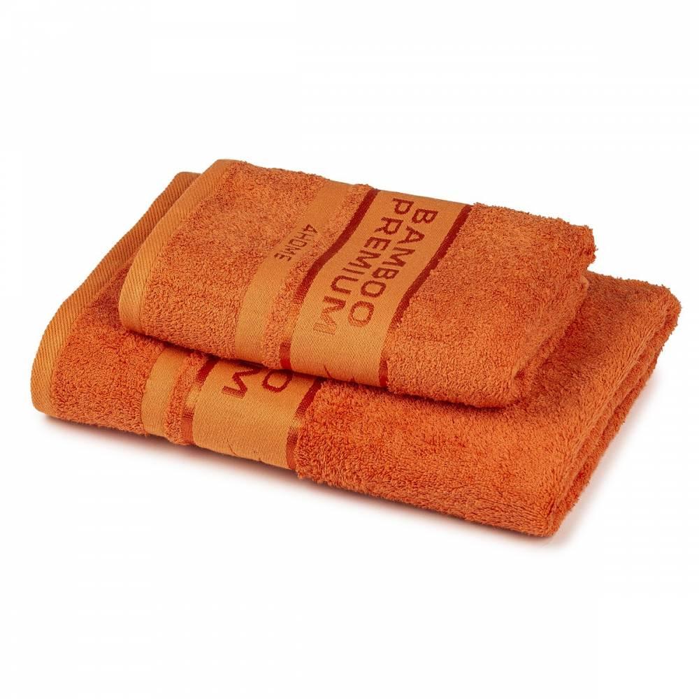 4Home Sada Bamboo Premium osuška a uterák tmavo lososová, 70 x 140 cm, 50 x 100 cm