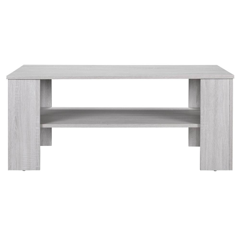 [en.casa]® Konferenčný stolík - 100 x 60 x 43 cm - biely dub