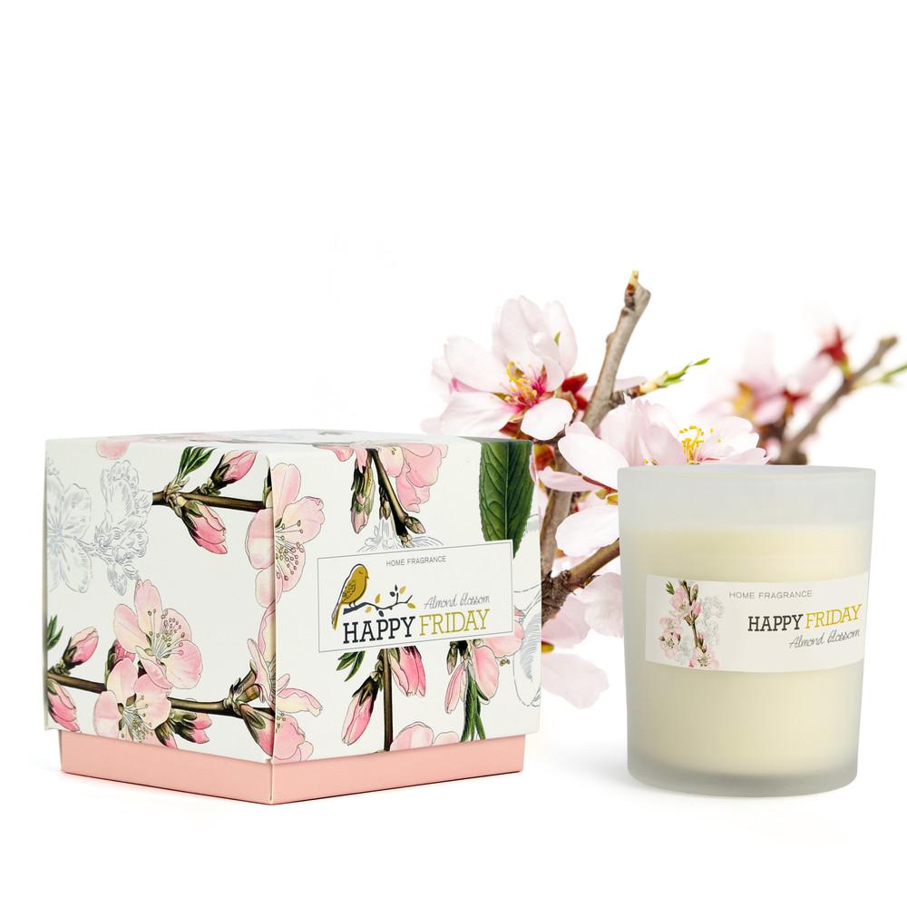 Vonná sviečka s vôňou mandľových kvetov HF Living