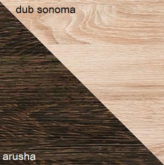 Šatníková skriňa CARMELO C22   Farba: Dub sonoma / arusha