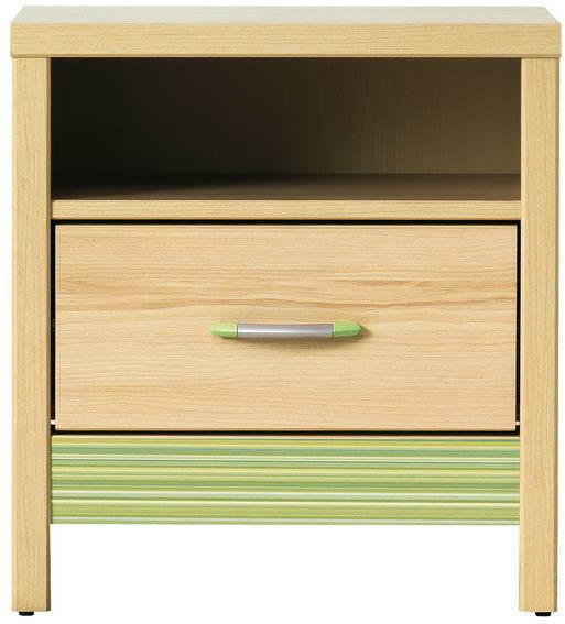 BOG-FRAN CODI CD 14 nočný stolík - višňa cornwall / rainbow zelená
