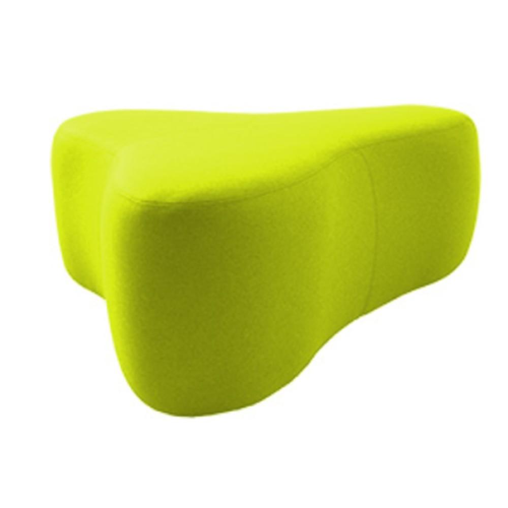 Svetlozelený puf Softline Chat Felt Lime Punch, dĺžka 130 cm