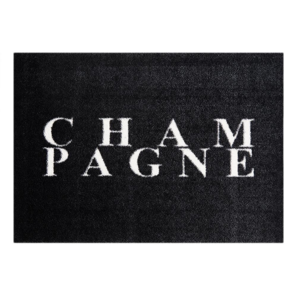 Čierny rohožka Mint Rugs  StateMat Champagne, 50x75cm