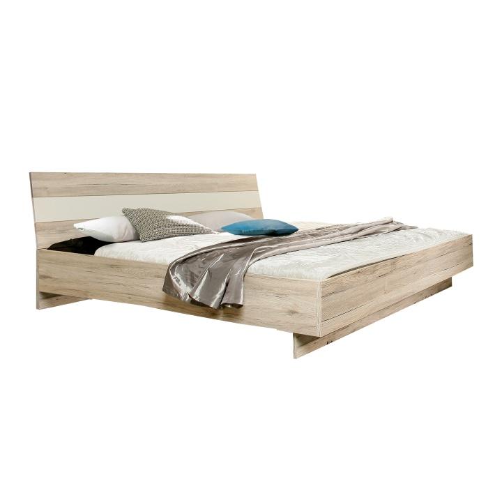 TEMPO KONDELA VALERIA 180 manželská posteľ - dub pieskový / biela