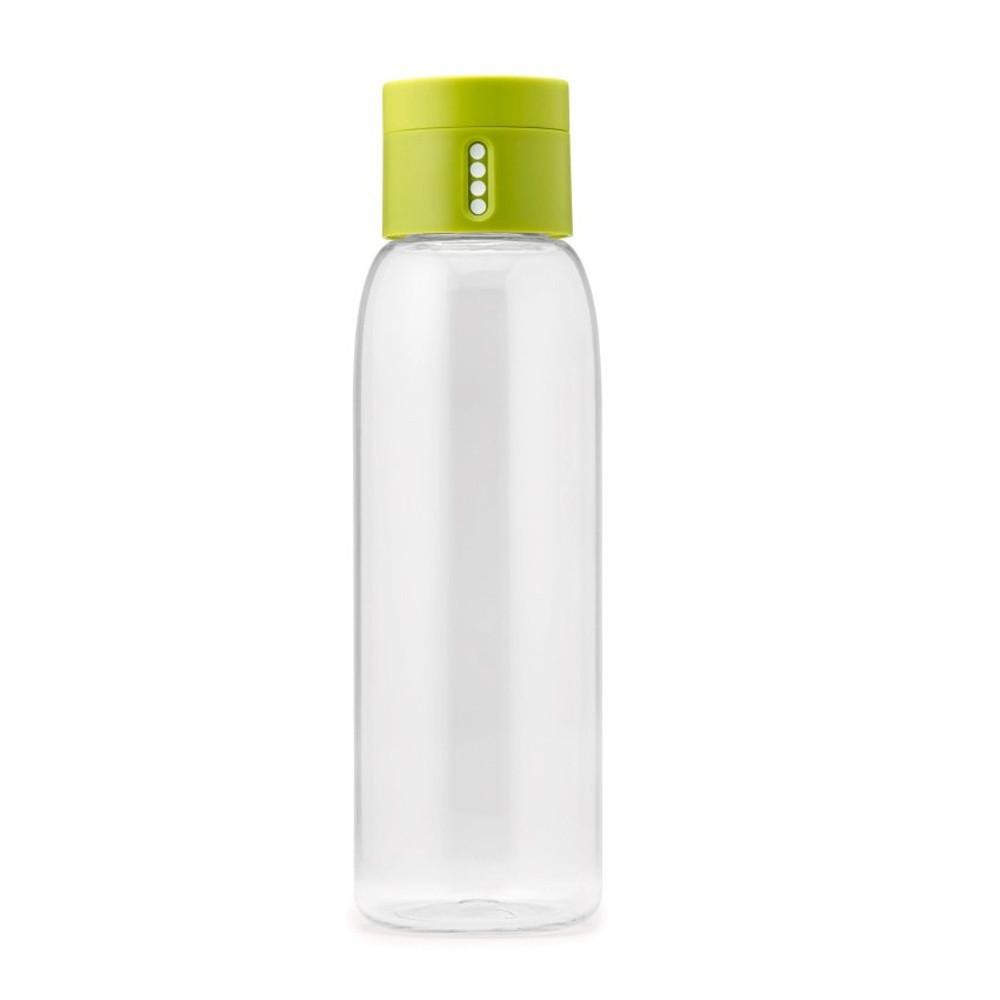 Zelená fľaša s počítadlom Joseph Joseph Dot