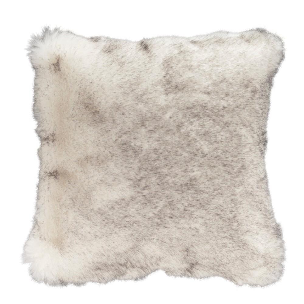 Sivohnedý vankúš z umelej kožušiny Mint Rugs, 43×43 cm