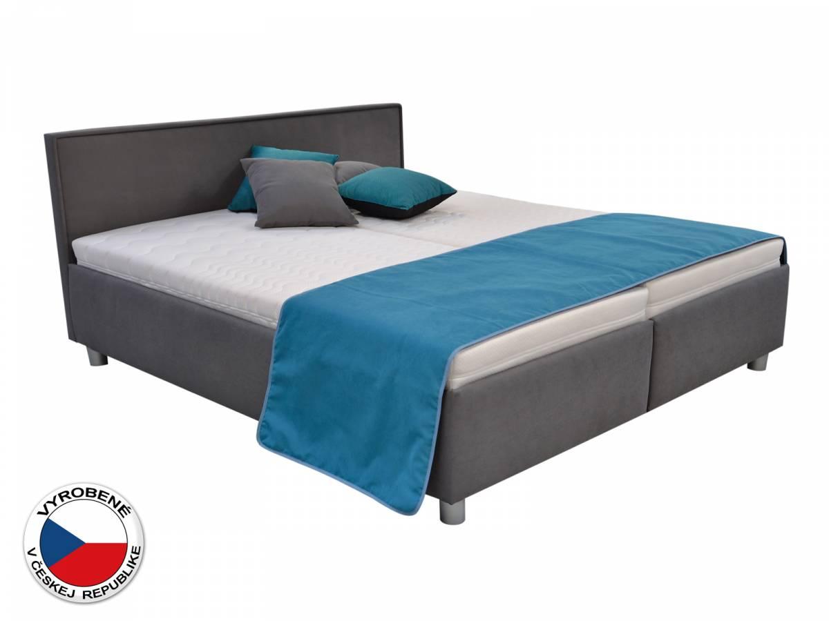Manželská posteľ 180 cm Blanár Oregon (sivá) (s roštom a matracom)