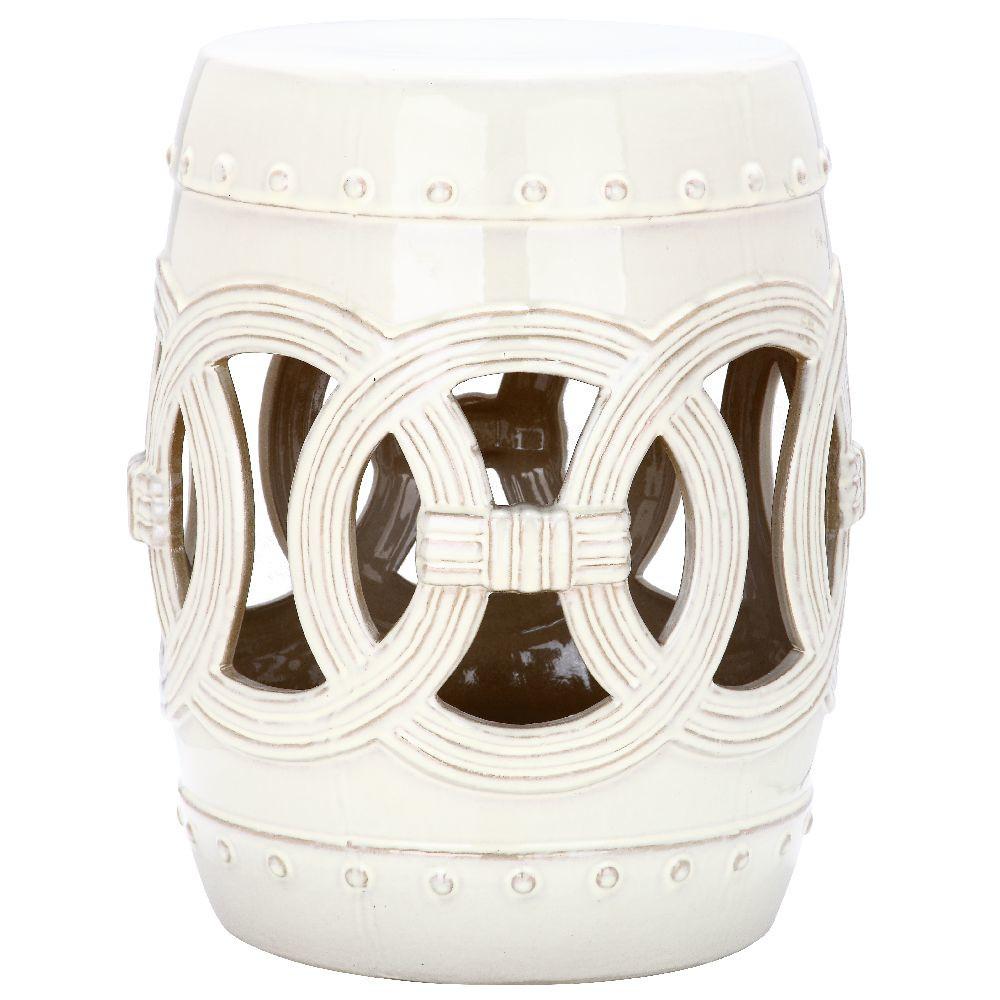 Biely keramický stolík Safavieh Ibiza