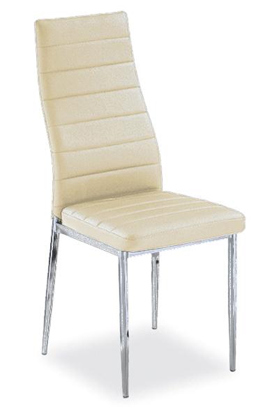 Jedálenská stolička VERME, krémová/chróm