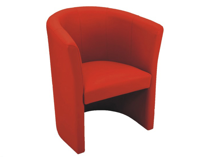 Kreslo MM eko červená