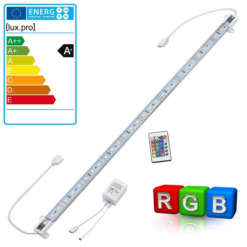 [lux.pro]® Hliníkový LED pásik – pre nepriame osvetlenie - 1 x 50cm - farebný RGB