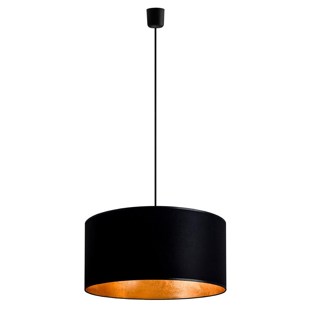 Čierno-zlaté závesné svietidlo Sotto Luce Mika, Ø 50 cm