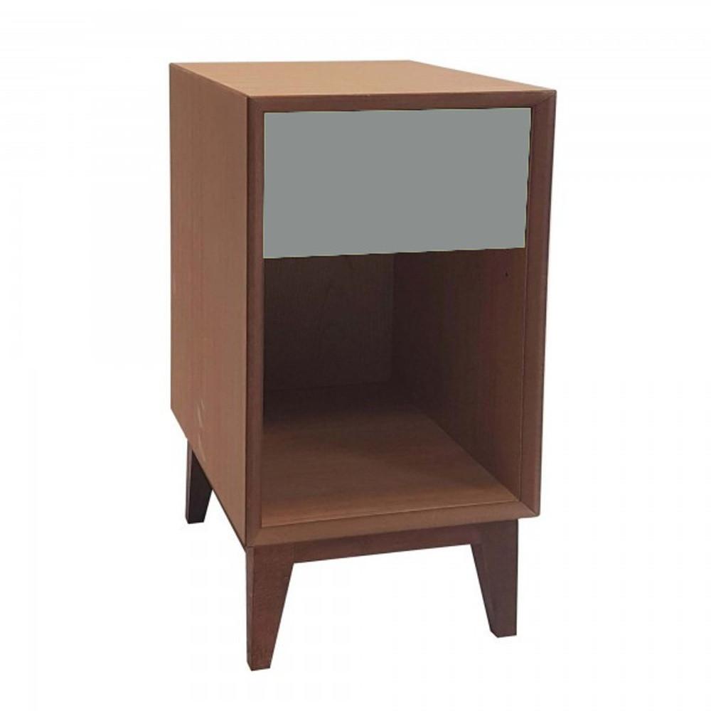 Veľký nočný stolík s tmavosivou zásuvkou Ragaba PIX