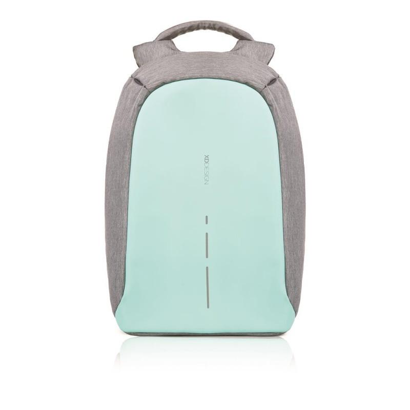 Zelenkavo-sivý bezpečnostný batoh XDDesign Bobby Compact