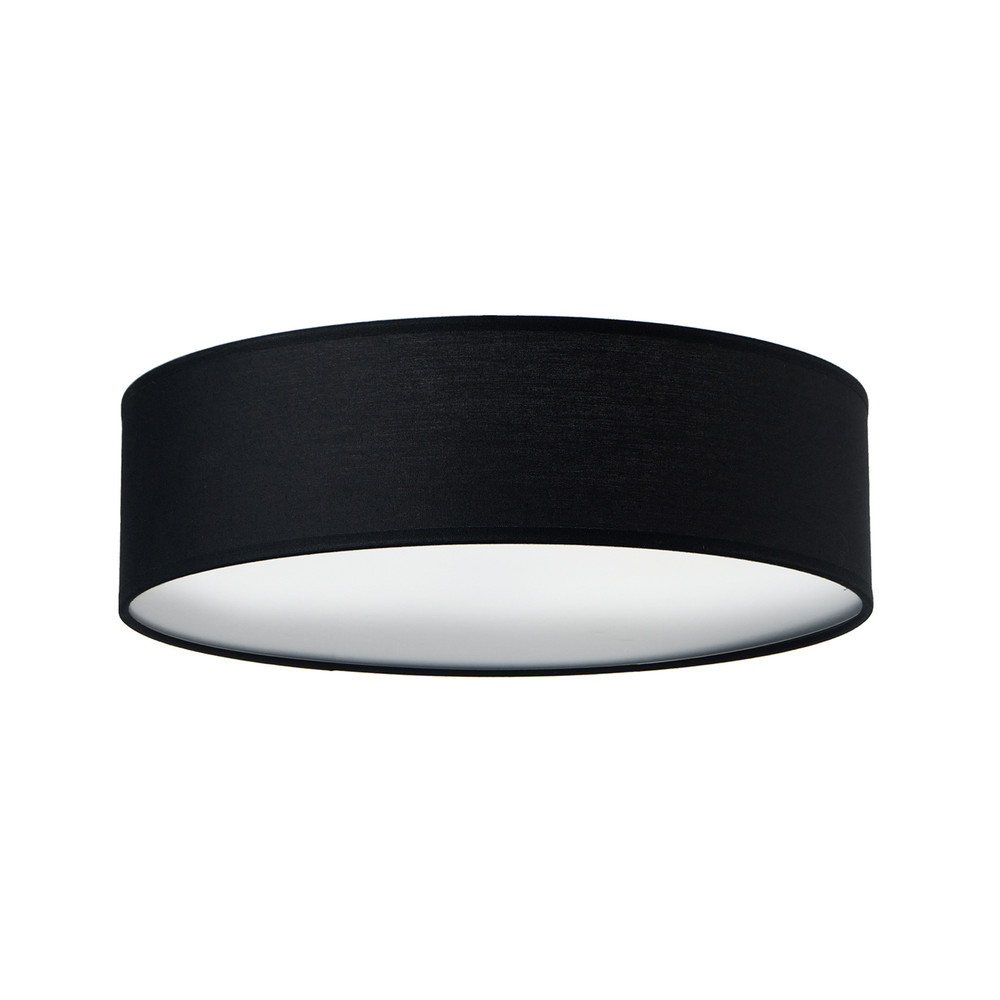 Čierne stropné svetlo Sotto Luce MIKA Elementary L 1C
