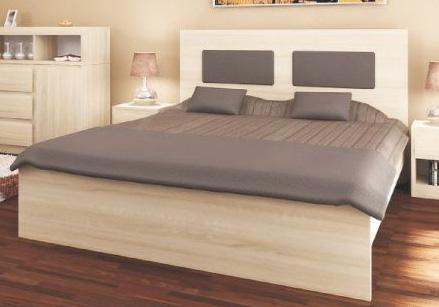 VISLA manželská posteľ 145 dub sonoma, látka na výber