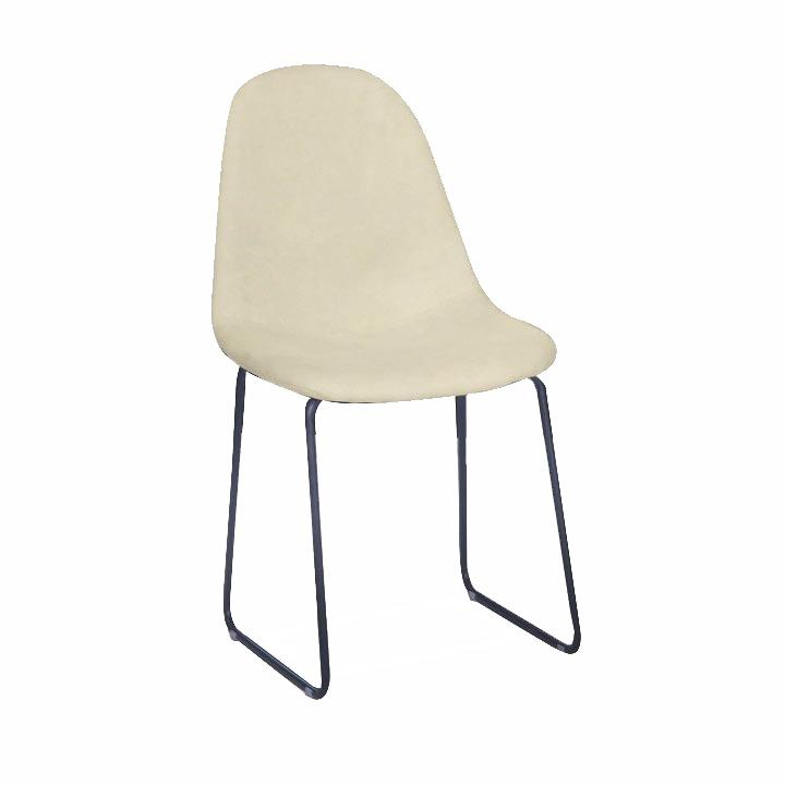 TEMPO KONDELA Jedálenská stolička, biela-smotanová/čierna, ARUN