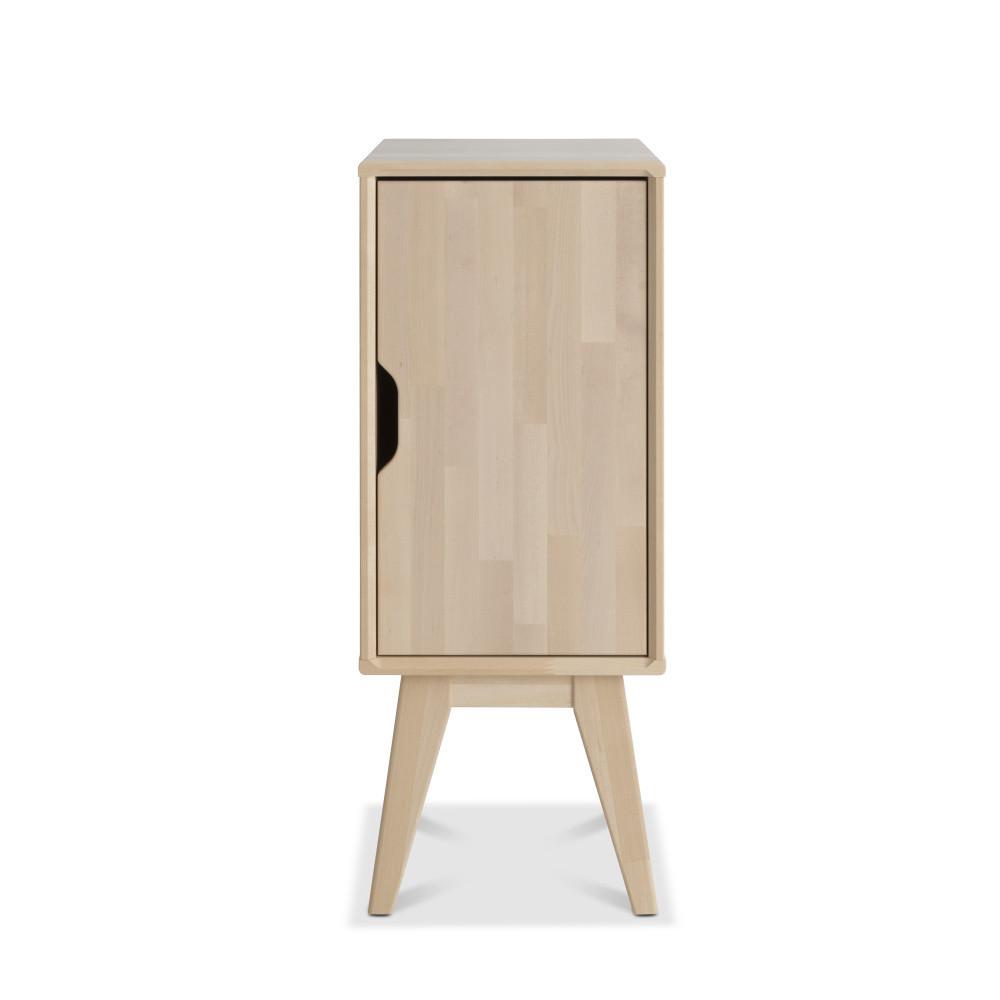 Ručne vyrobený nočný stolík z masívneho brezového dreva KiteenKolo