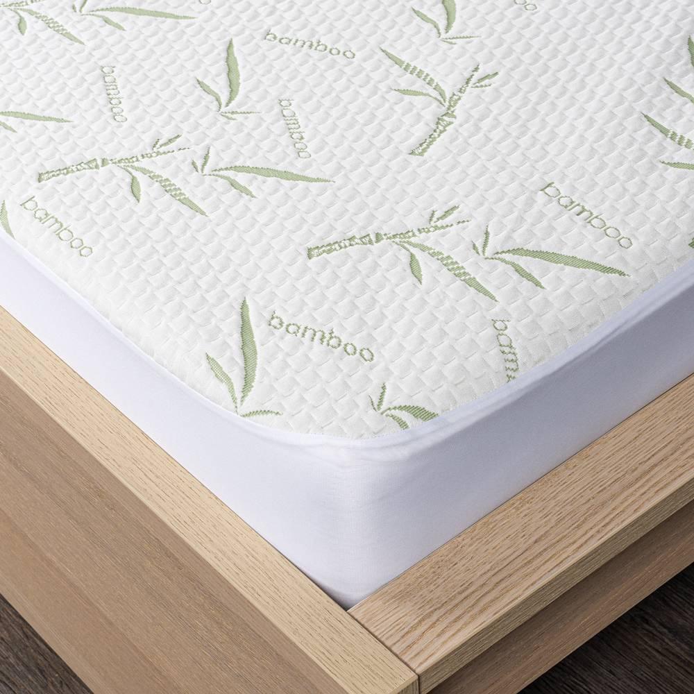 4home Bamboo Chránič matraca s lemom, 200 x 200 cm
