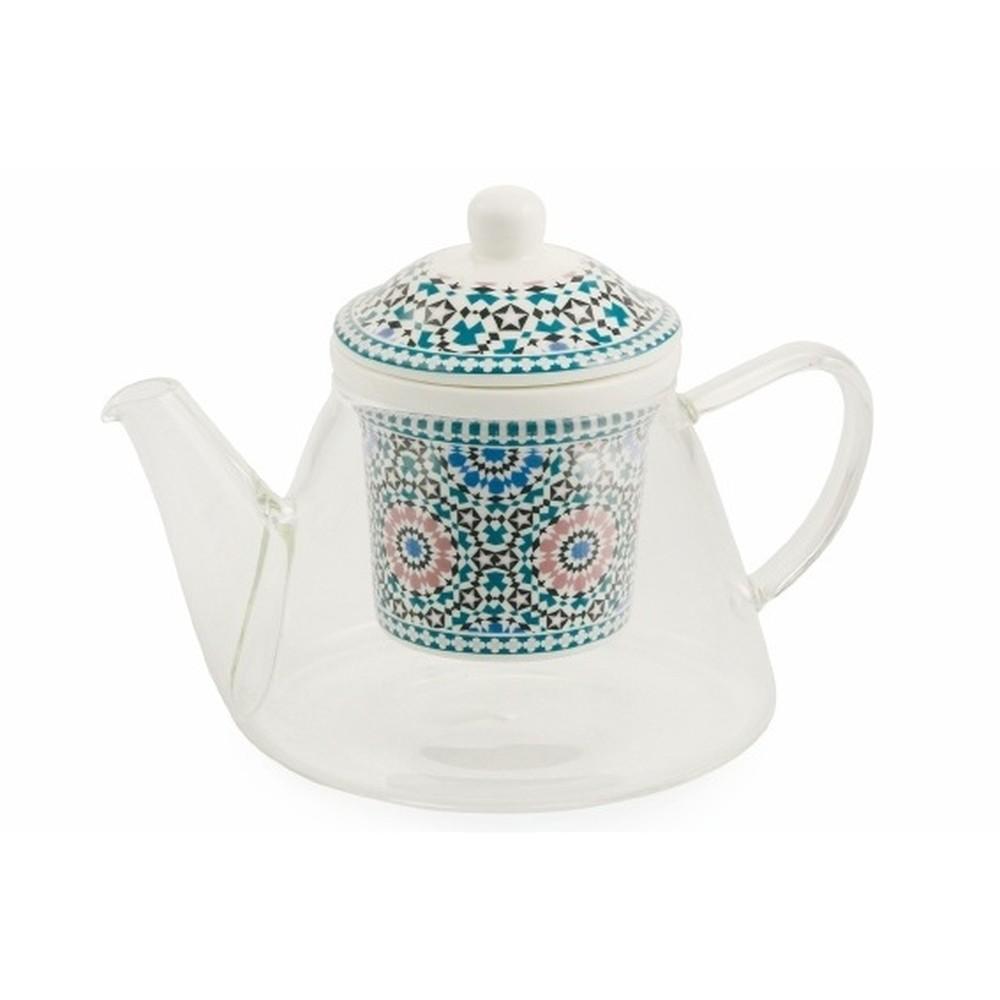 Kanvička s porcelánovým sitkom na sypaný čaj Villa d'Este Bisanzio
