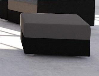 Taburetka AVARA šedá/čierna