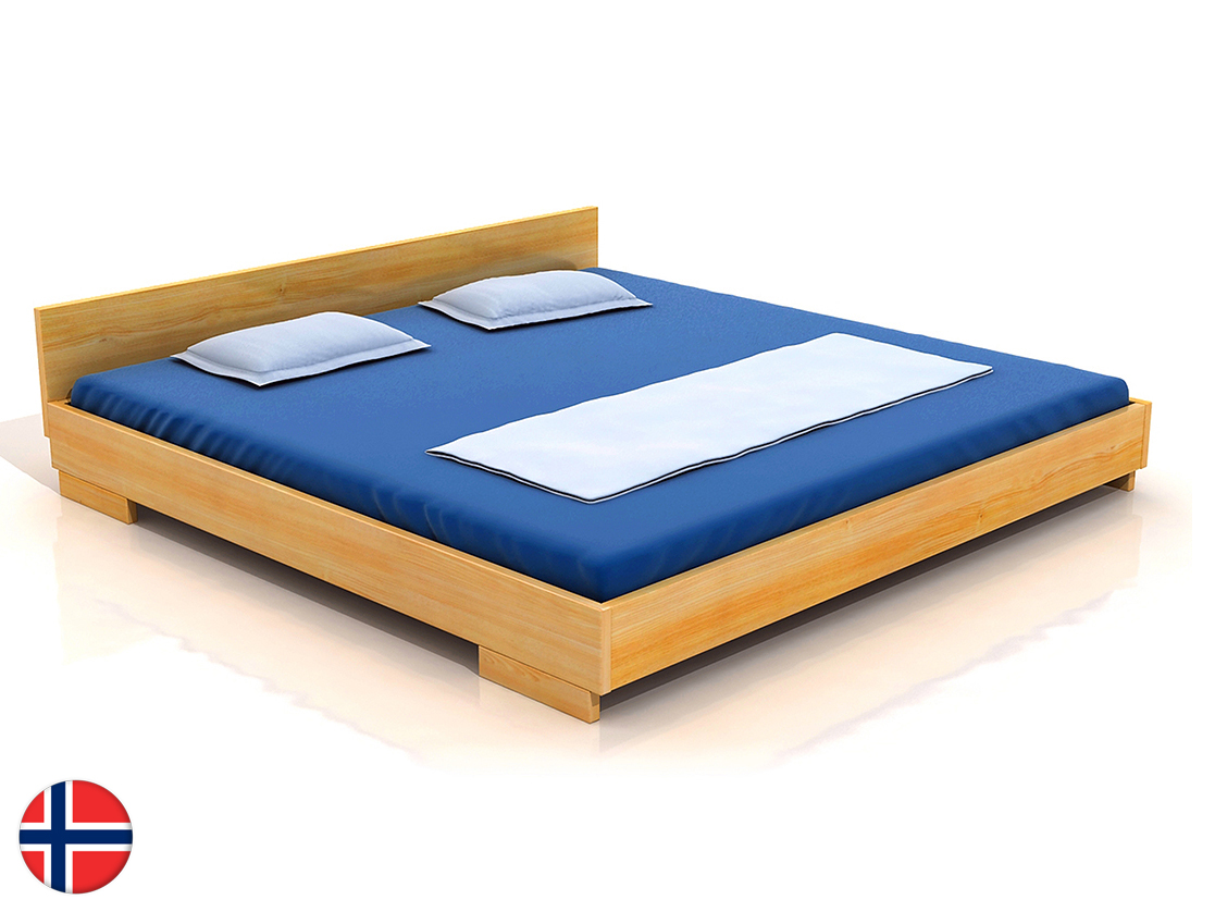 Manželská posteľ 200 cm Naturlig Larsos (borovica) (s roštom)