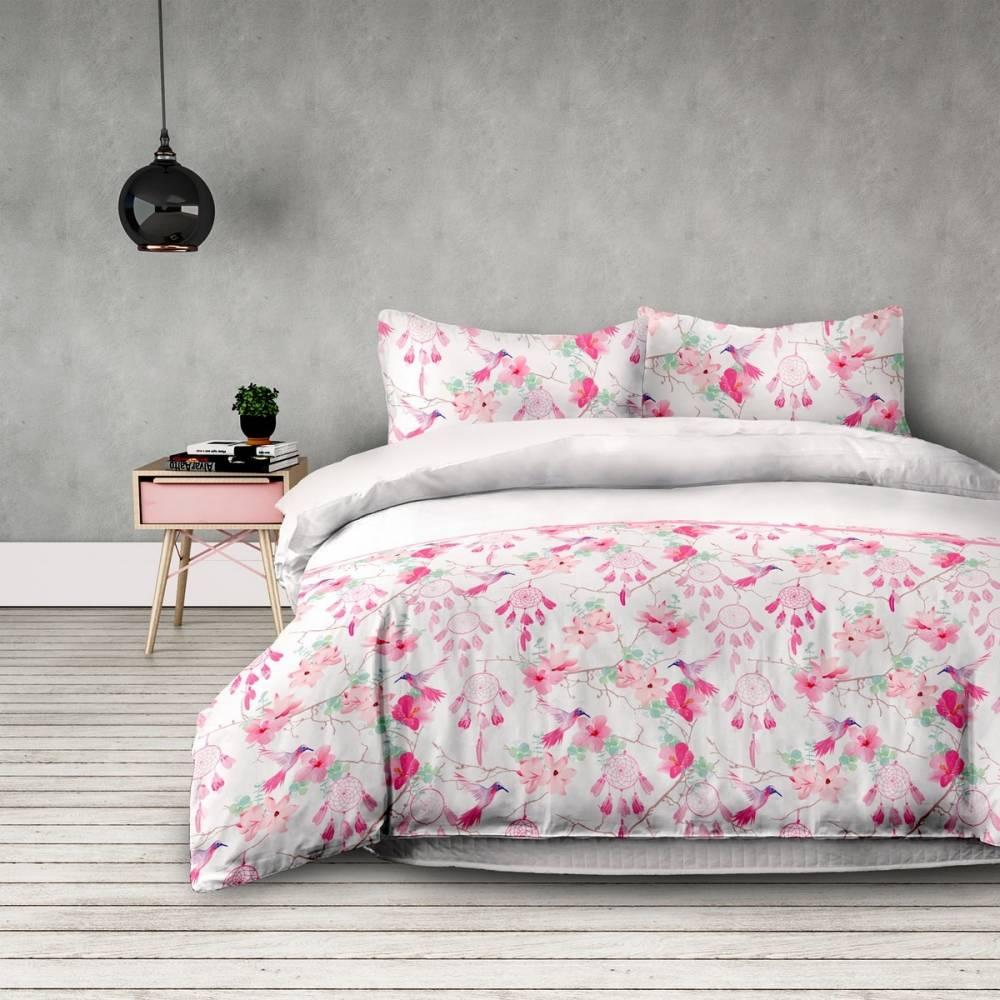 DecoKing Flanelové obliečky Sweet Dreams, 140 x 200 cm, 70 x 90 cm