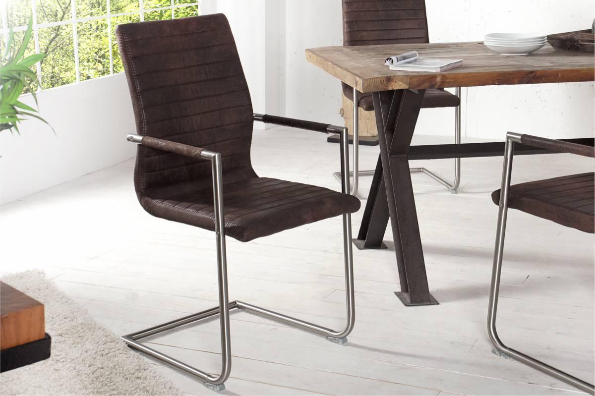 Jedálenská stolička RICHMUND - hnedá