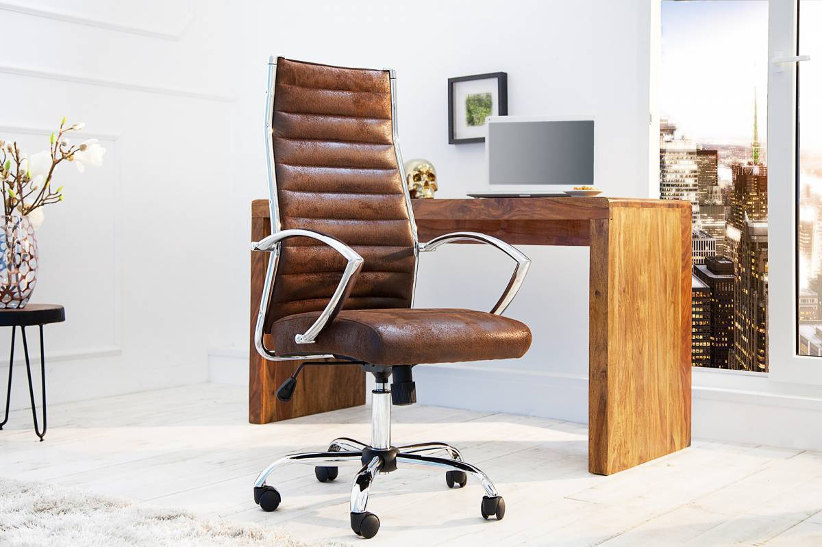 Kancelárska stolička DEALS - antická hnedá