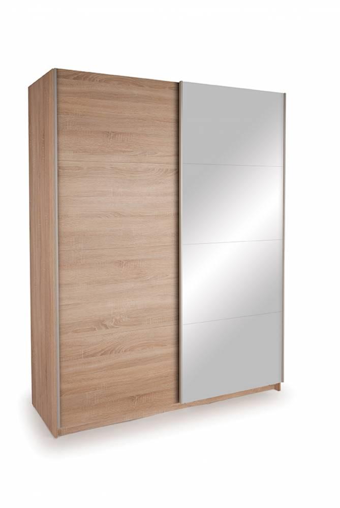 Skriňa EKO PLUS ST13 dub sonoma + zrkadlo 150