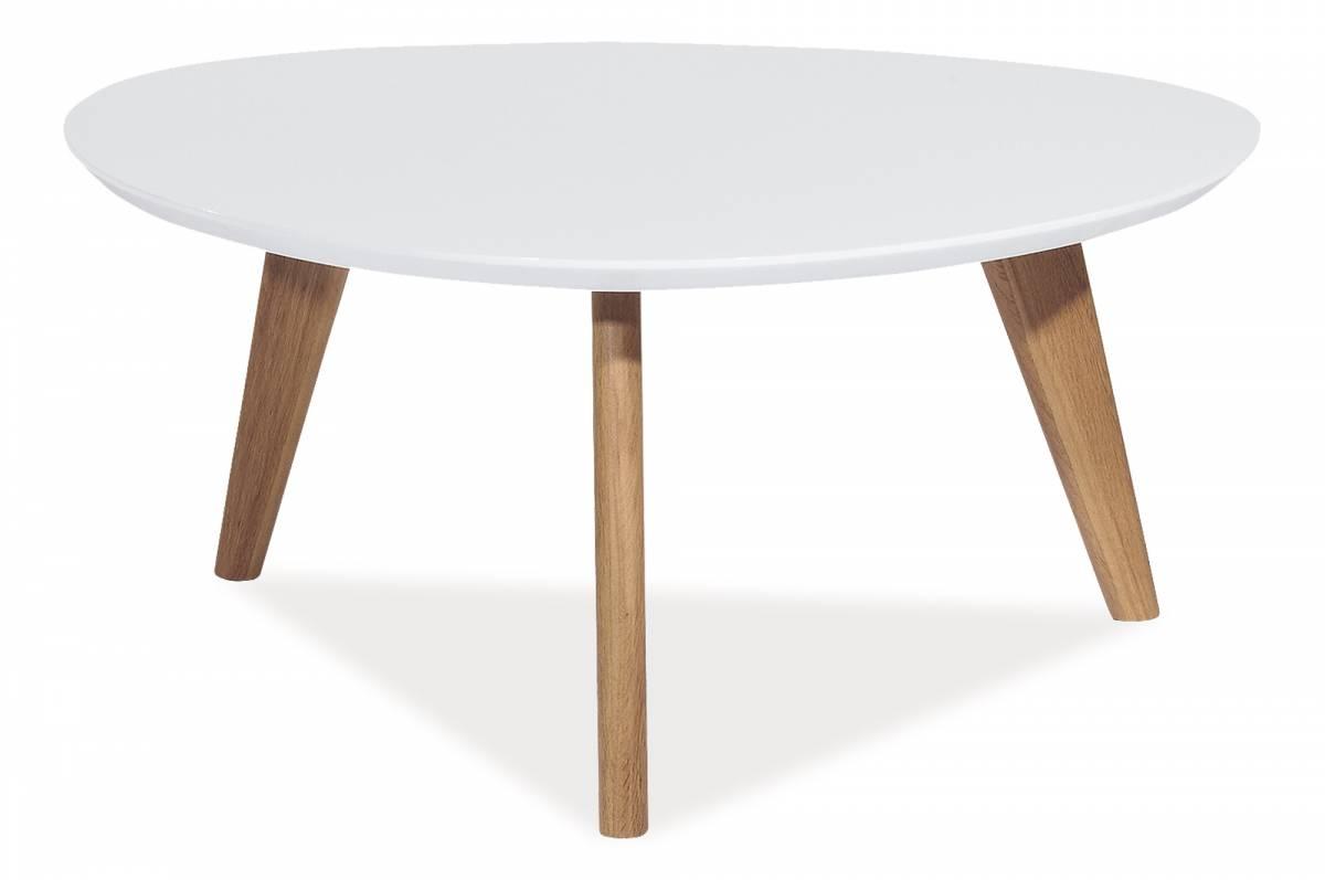 Konferenčný stolík Milan L3 (biela)