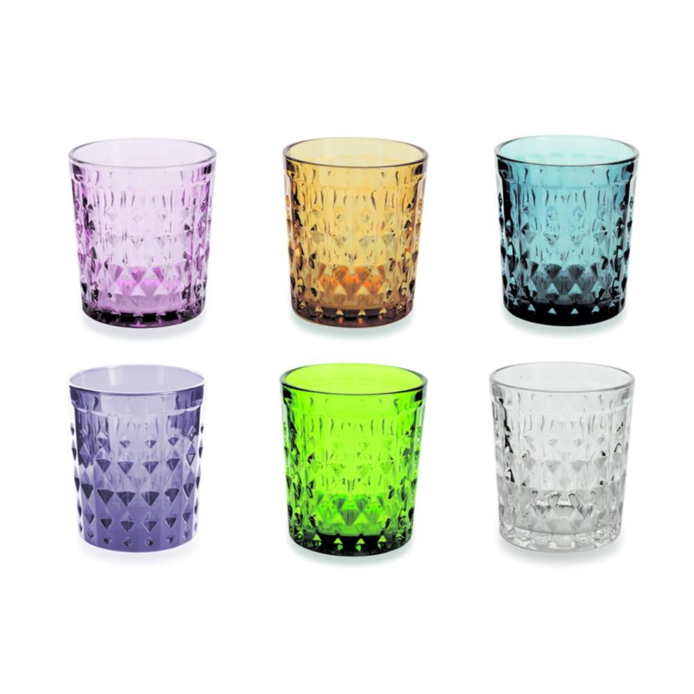 Sada 6 farebných pohárov Villa d'Este Fiji-Rio