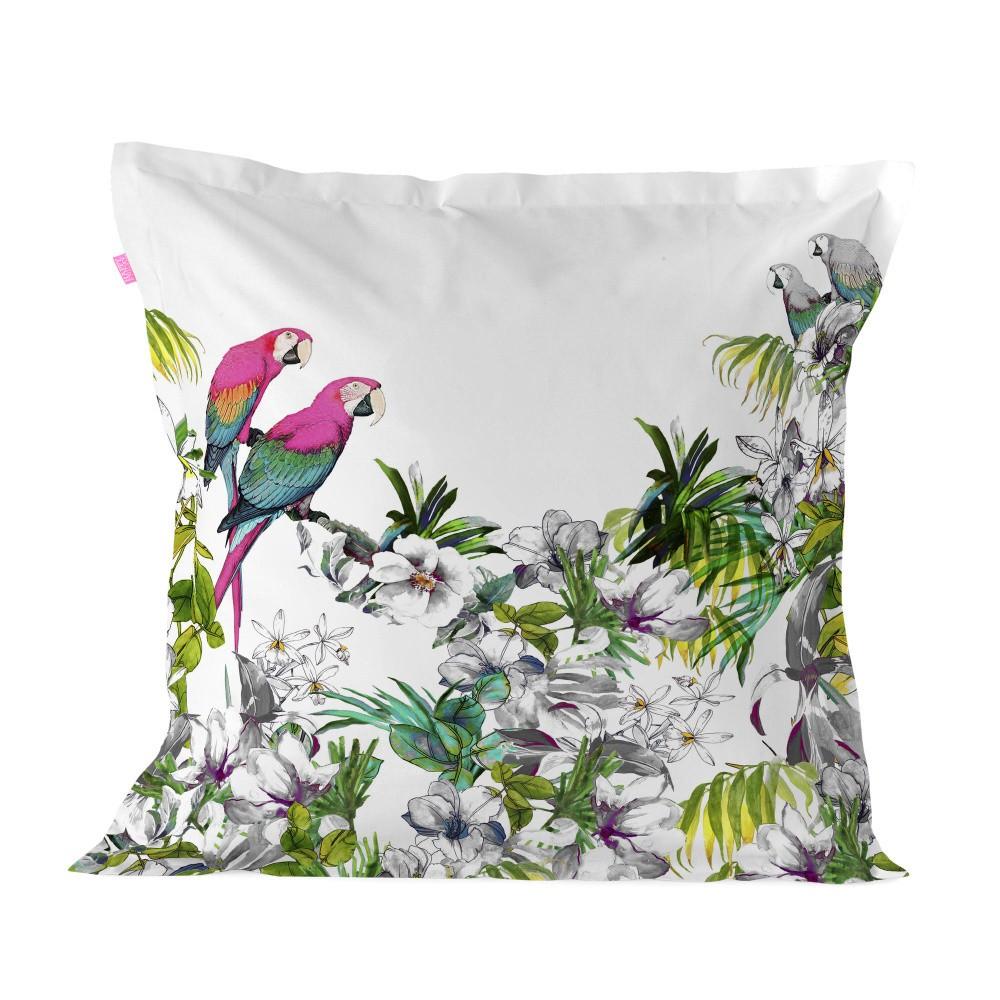 Bavlnená obliečka na vankúš Happy Friday Pillow Cover Blue Macaw, 60 × 60 cm