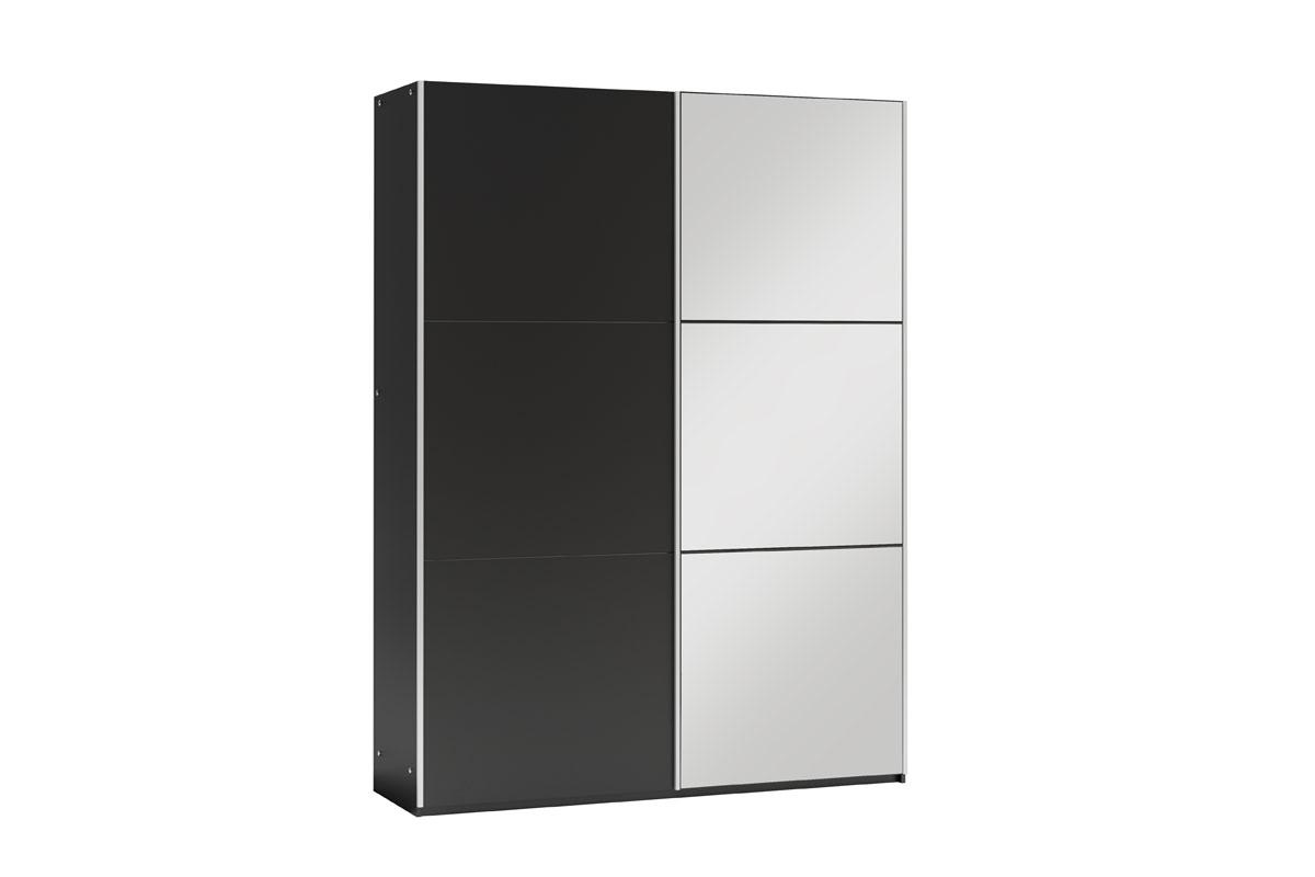 GOGO 120 šatníková skriňa so zrkadlom, čierna