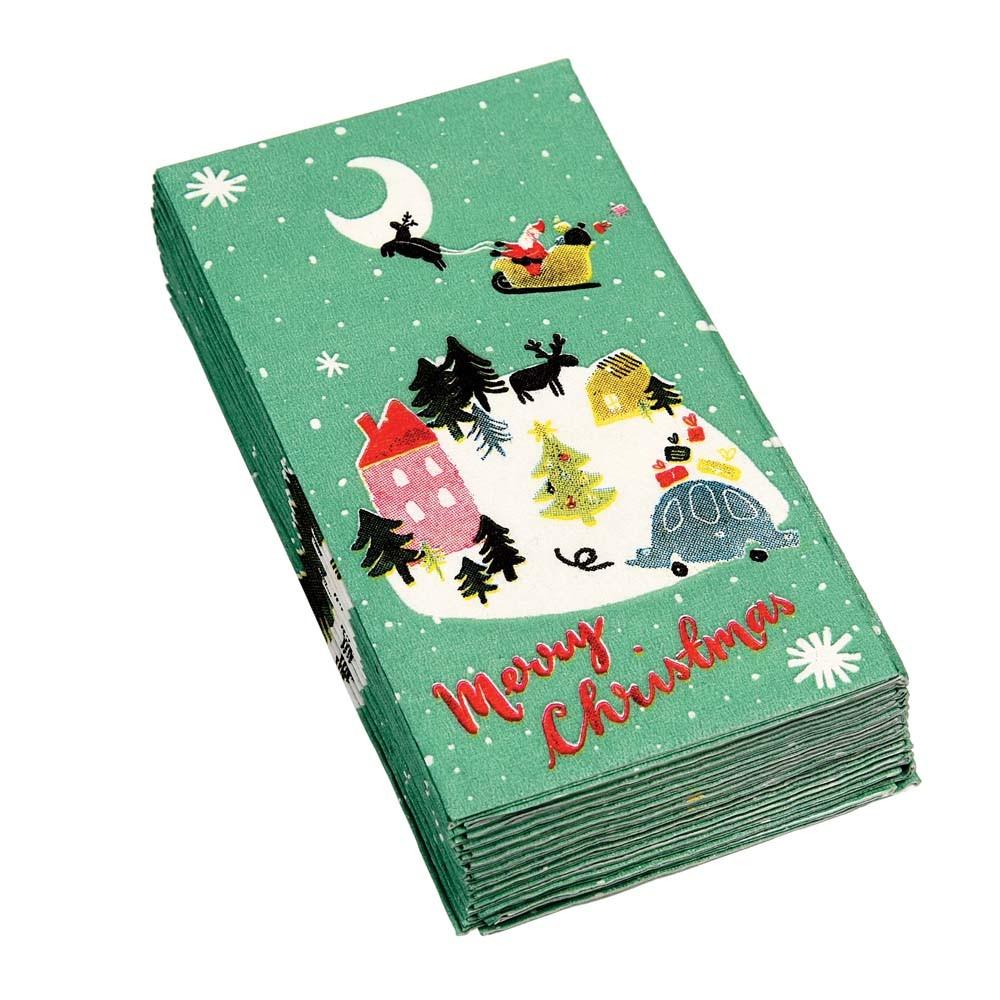 Sada 12 vianočných obrúskov Rex London Christmas Wonderland