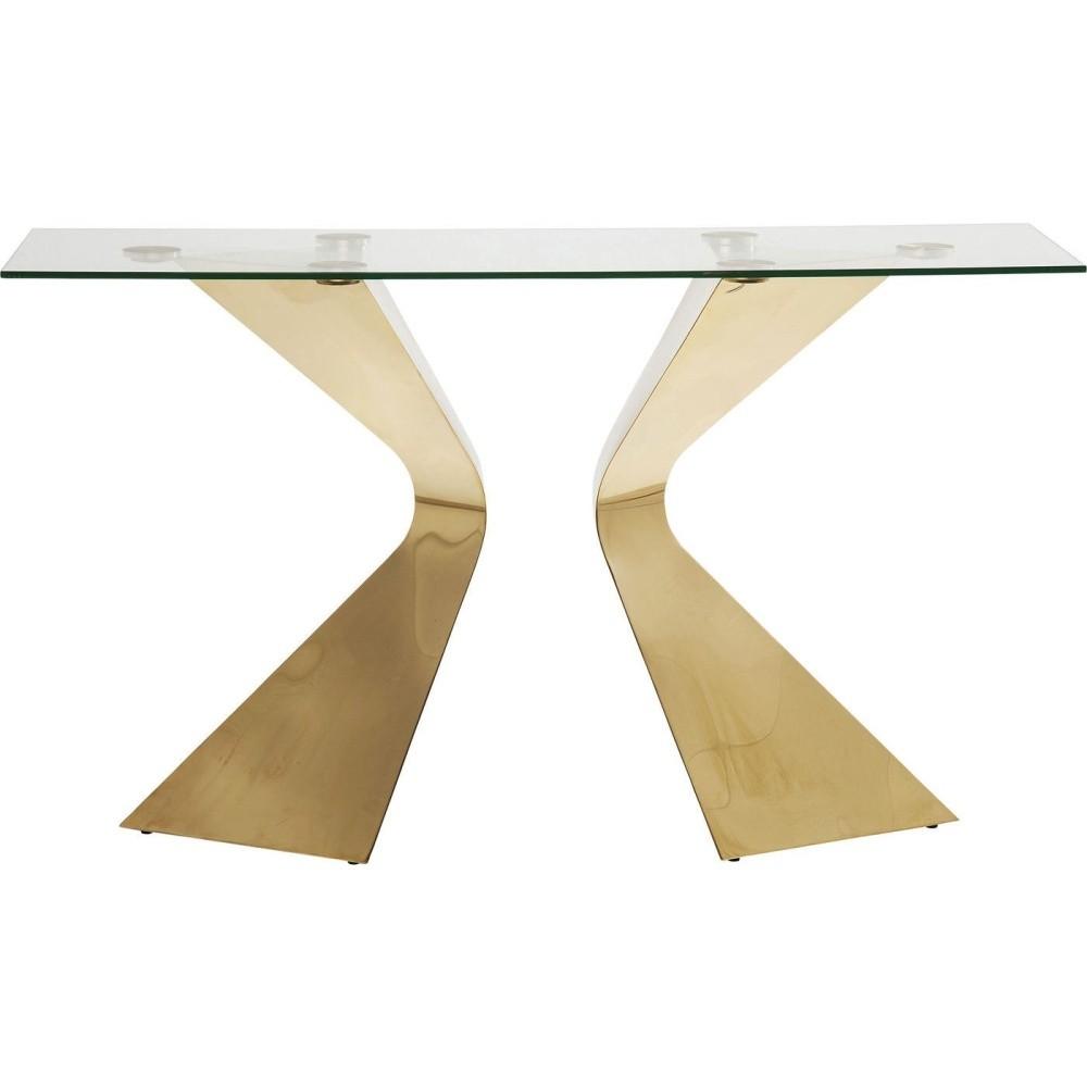 Konzolový stolík s nohami vo farbe zlata Kare Design Gloria