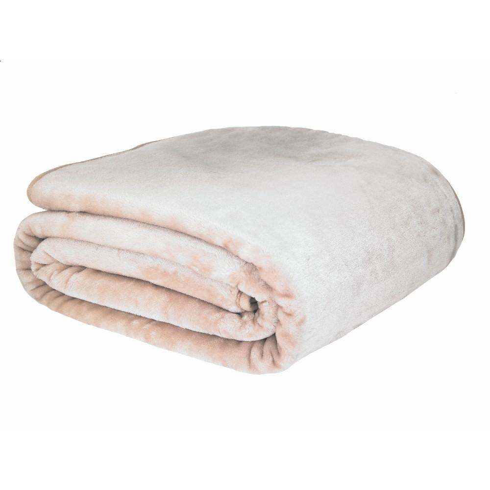 Svetloružová deka Catherine Lansfield Basic Cuddly, 200×240 cm
