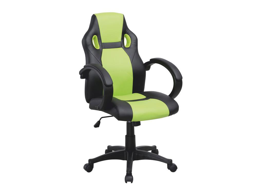 Kancelárske kreslo Lester (čierna + zelená)