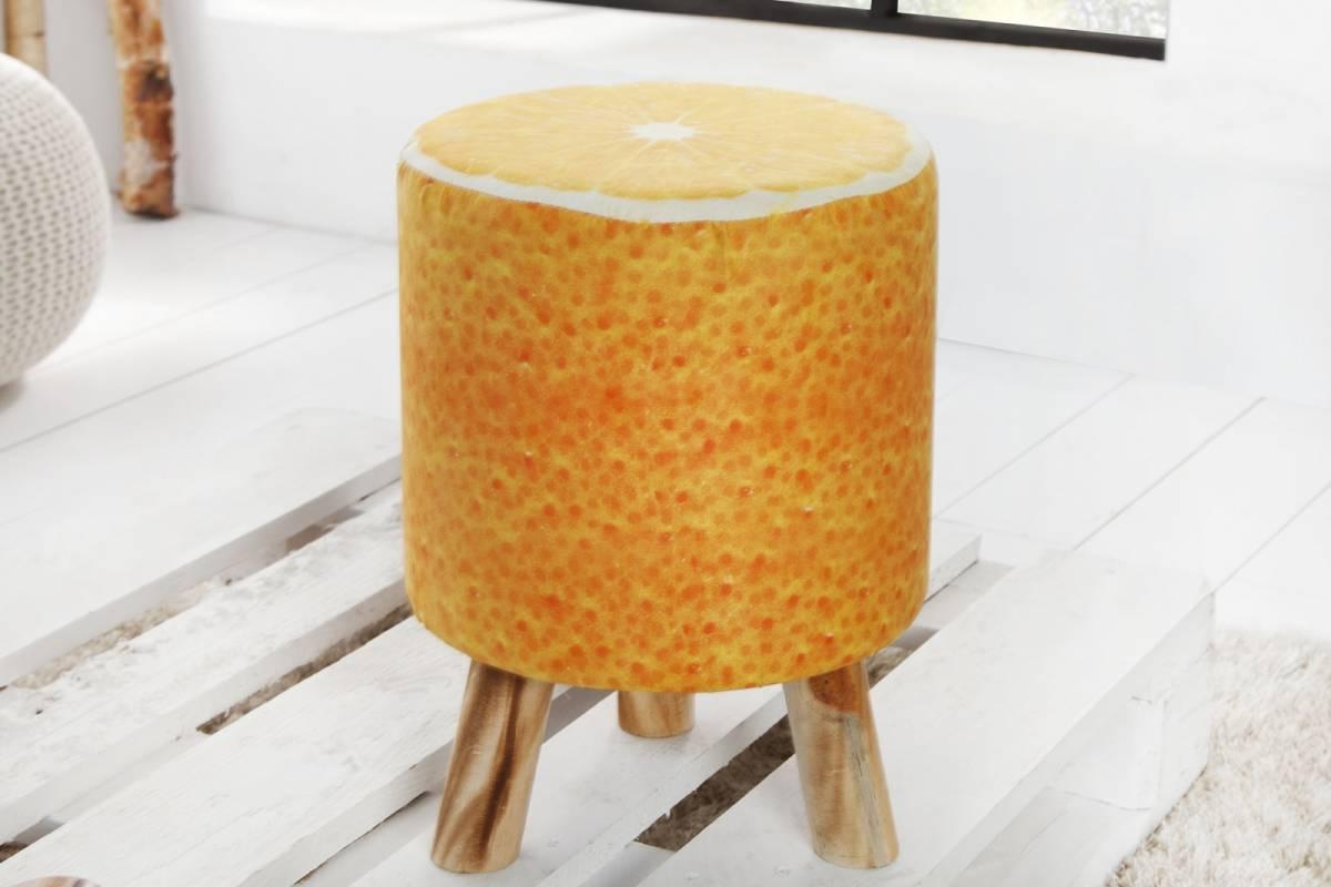 Bighome - Taburetka POMARANČ, 45 cm - oranžová