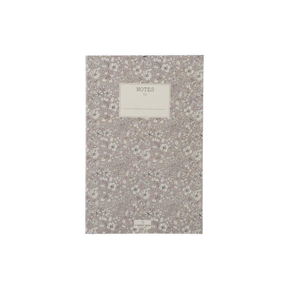 Zápisník A Simple Mess Nynne Ashes Roses, 21×14 cm