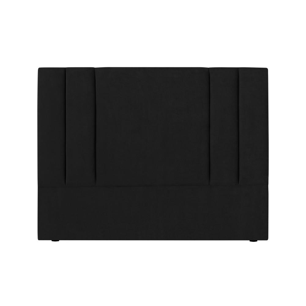 Čierne čelo postele Kooko Home Kasso, 120 × 160 cm