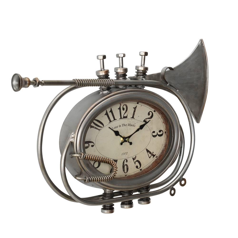 [en.casa]® Nástenné hodiny v tvare trúbky - analógové - 68 x 5,5 x 68 cm - farebné - sklo