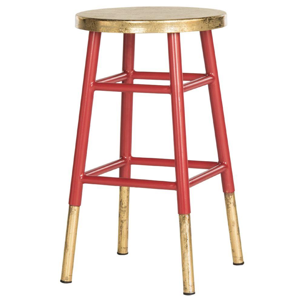 Červeno-zlatá stolička Safavieh Counterstool