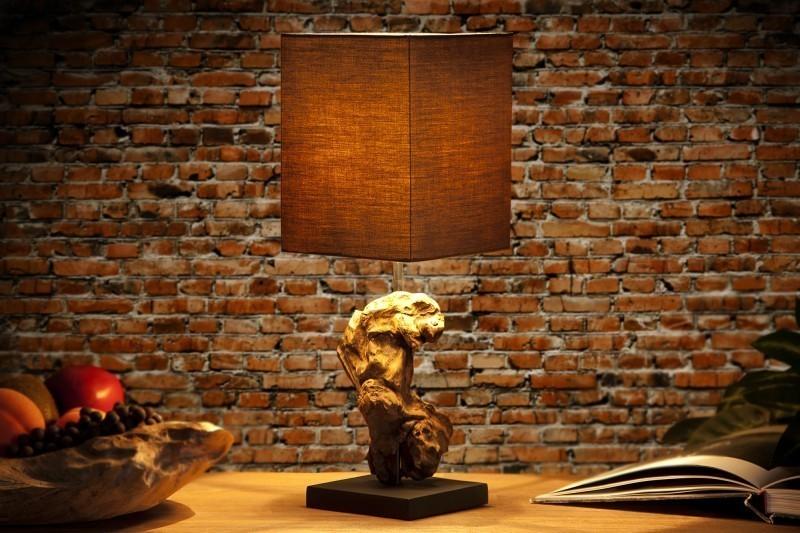 Stolná lampa CYGNUS II hnedá