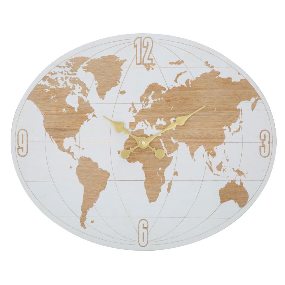 Nástenné hodiny Mauro Ferretti White World, dĺžka48cm
