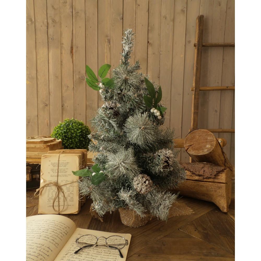 Sada 2 zasnežených vianočných stromčekov s led svetielkami Orchidea Milano Xmas