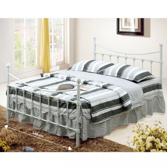 TEMPO KONDELA NIEVES 140 manželská posteľ s roštom - biela